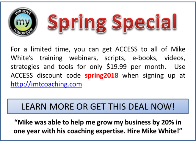 imt coaching spring special